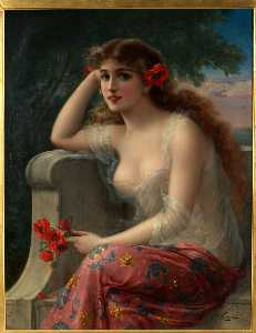 Girl With A Poppy