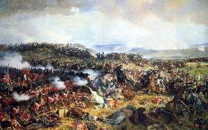 Cuirassiers Charging The Highlanders At The Battle Of Waterloo