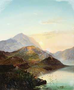 Scottish Loch, Sunset