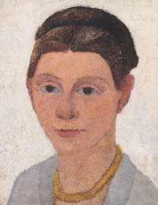 Self-portrait With Amber Necklace