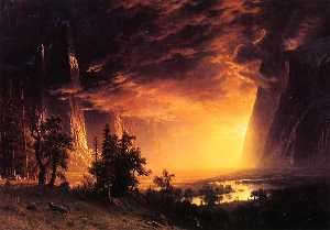 Sunset in the Yosemite Valley