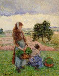 Peasant Woman Carrying a Basket.