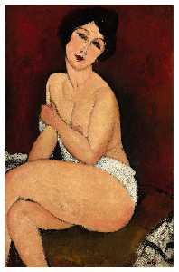Nude Sitting on a Divan
