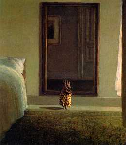 rabbit in front of the mirror