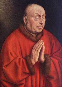 the ghent altarpiece the donor (detail)