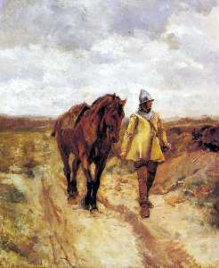 Un Homme D-Armes Et Son Cheval