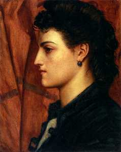 Head of an italian girl - Valentine Cameron Prinsep