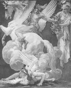 Perseo en Pegaso Asesinato Medusa