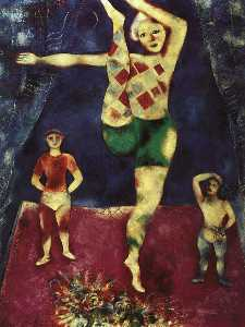 The Three Acrobats, oil on canvas, private col