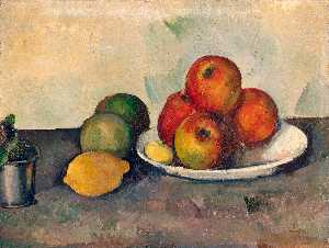 Still life with apples,c.1890, eremitaget
