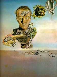Dalí portrait of paul eluard,1929, private
