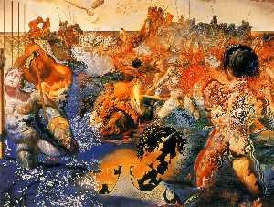 Dalí tuna fishing, oil on canvas, foundation paul r