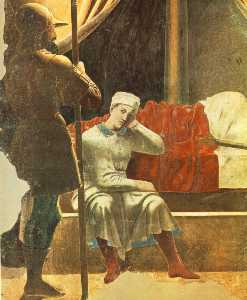 The arezzo cycle - constantine's dream (detail)