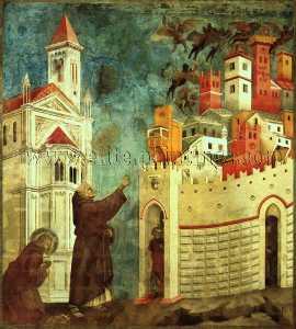 i devils Calco Fuori Arezzo , prima 1300 , affresco , U