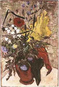 Fleurs des champs dans un vase