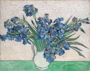 Iris dans un vase