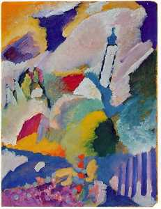 Murnau with church 1, Lenbachh