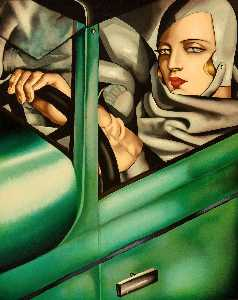 in the Green Bugatti