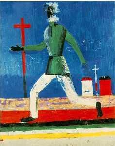 Running Man Oil on canvas (79 x 65 cm.) Mus