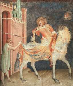 Division of the Cloak, approx. 1321, fresco, Lower C