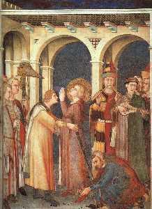 Cattedrale di St Balestruccio  è  Cavaliere  ca.  1321   affresco  inferiore