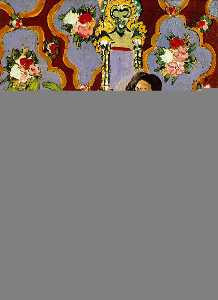 Decorative Figure on an Ornamental Ground,