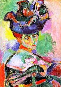 Femme au Chapeau (Woman with Hat), oil on canv