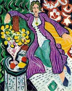 Femme au manteau violet (Woman in a Purple Coat), - (19)