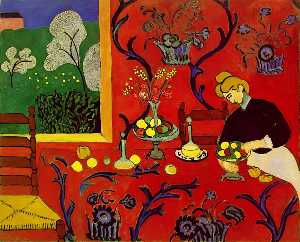 Harmony in Red (La desserte), spring 180x220 c