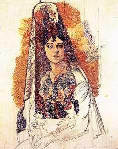 Femme en tenue espagnole