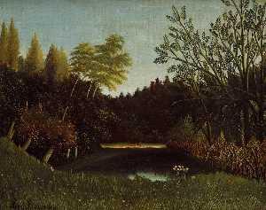 View of the Bois de Boulogne