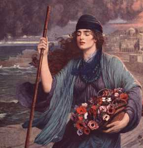 Nydia Blind Girl of Pompeii