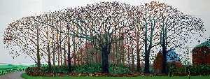 Bigger Trees Near Warter Or Peinture Sur Le Motif Pour Le Nouvel Age Post-Photographique