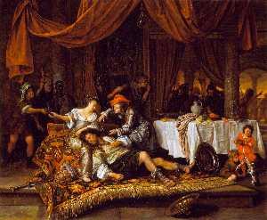 Wikioo.org - The Encyclopedia of Fine Arts - Artist, Painter  Jan Havicksz Steen