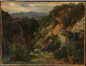 The Aniene River at Subiaco (late (1820s))