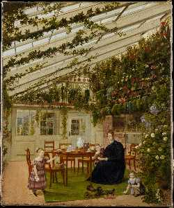 The Family of Mr. Westfal in the Conservatory (1836)