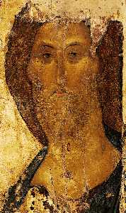 The Saviour. The icon from the Deisus Chin (Row), Zvenigorod.