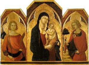 麦当娜 和 孩子 与  圣人