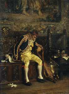 A footman sleeping (1871)