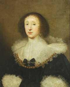 Botas retrato gargantas de carew , Esposa de john crewe
