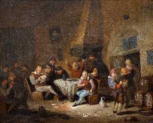Heemskerk Scene from the tavern.