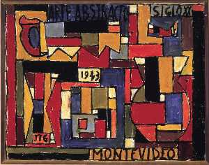 Abstract art in five tones and complementaries - (1943) - Joaquín Torres García