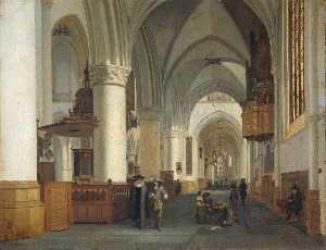 Interior of the Sint Bavokerk in Haarlem