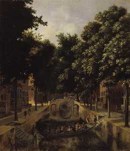 View of a Dutch Canal.