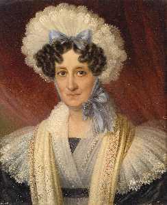 Portrait of a Lady with lace bonnet