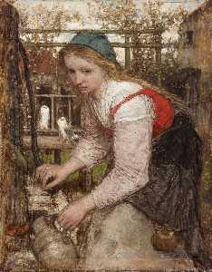 Girl at the pump