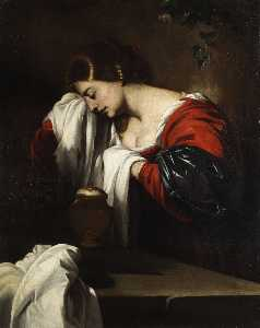 Mourners hl. Mary Magdalene with the ointment jar