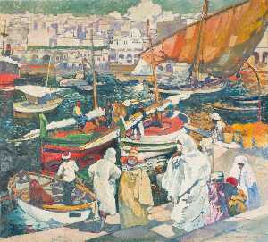 Fisherman at the So Called Dock of the Admiralty, Algiers