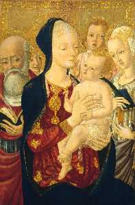 Madonna and Child with Saint Jerome, Saint Catherine of Alexandria and Angels