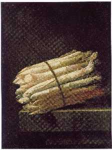 Dutch Stillleven van Asperges op een stenen tafel Still Life of Asparagus